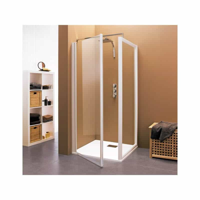 paroi de douche profil blanc 100 cm gamme classic hawa kinedo. Black Bedroom Furniture Sets. Home Design Ideas