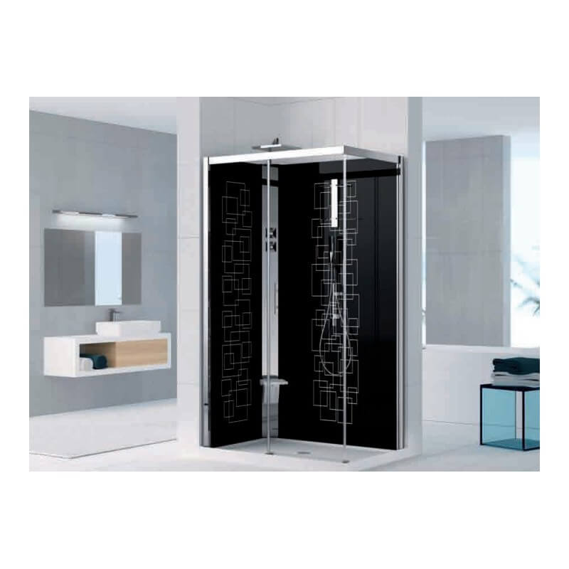 cabine de douche holiday crystal 2 2p 120x80 version standard thermostatique novellini. Black Bedroom Furniture Sets. Home Design Ideas