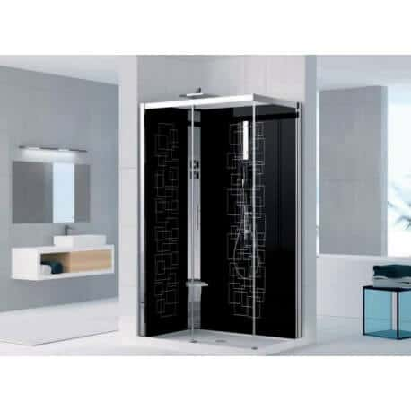cabine de douche holiday crystal 2 2p 120x80 version hydro m canique novellini. Black Bedroom Furniture Sets. Home Design Ideas