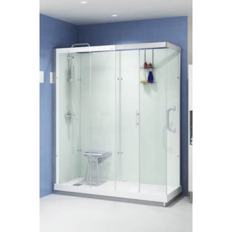 Douche kinemagic espace porte verre transparent s r nit for Cabine de douche kinemagic