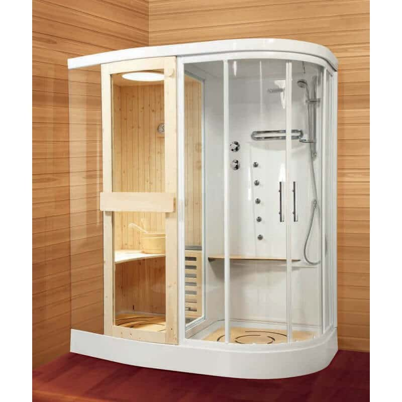 cabine de douche novellini stockolm avec sauna r 180. Black Bedroom Furniture Sets. Home Design Ideas