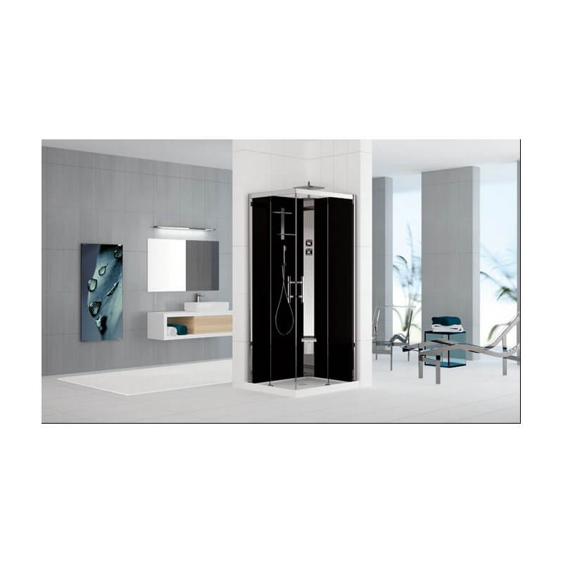 cabine de douche holiday cristal 2 a100x70 novellini version hydromassage. Black Bedroom Furniture Sets. Home Design Ideas
