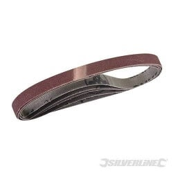 5 bandes abrasives 10 x 330 mm