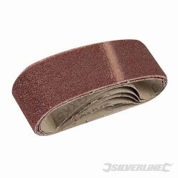 5 bandes abrasives 40 x 305 mm Grain 60