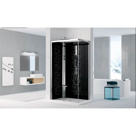 cabine de douche holiday crystal 2 2p120x80 novellini. Black Bedroom Furniture Sets. Home Design Ideas