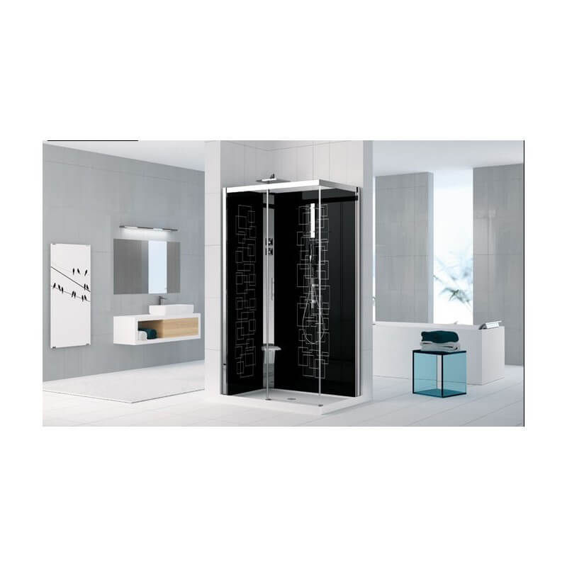 cabine de douche holiday crystal 2p 120x80 novellini. Black Bedroom Furniture Sets. Home Design Ideas