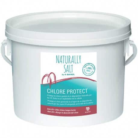 Chlore protect bayrol 2 kg pour piscines au sel for Sel pour piscine