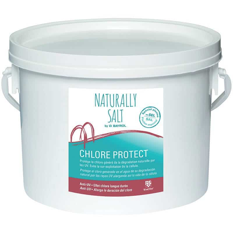 Chlore protect bayrol 2 kg pour piscines au sel for Chlore pour piscine