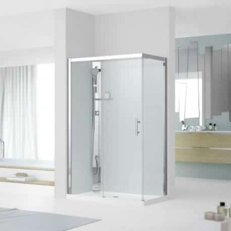 cabine de douche glax 1 2p120x80 version standard avec coiffe novellini. Black Bedroom Furniture Sets. Home Design Ideas