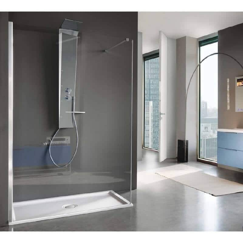 paroi de douche open shot angle de chez samo. Black Bedroom Furniture Sets. Home Design Ideas