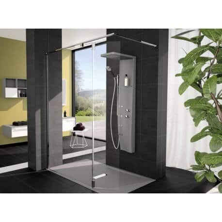 colonne de douche novellini dress s quip e montage de face version thermostatique. Black Bedroom Furniture Sets. Home Design Ideas