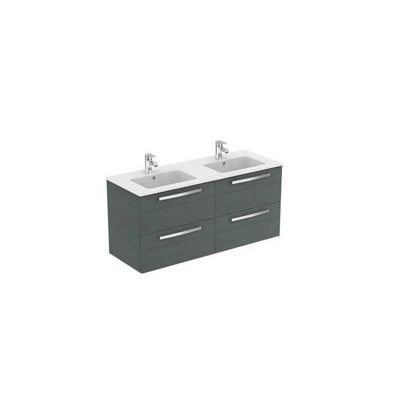 Meuble lavabo plan suspendu ulysse 120 cm porcher for Meuble 120 cm