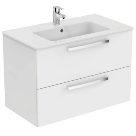 Ensemble meuble et lavabo plan suspendu ulysse ideal standard for Ensemble meuble lavabo