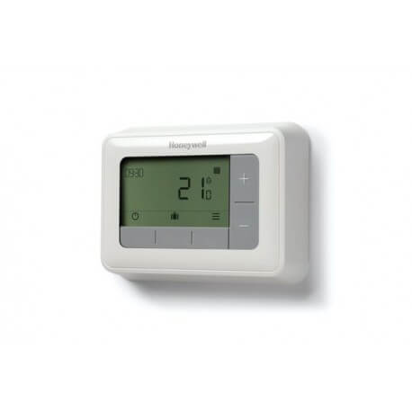 Pack thermostat filaire programmable opentherm t4m honeywell - Thermostat d ambiance programmable filaire ...