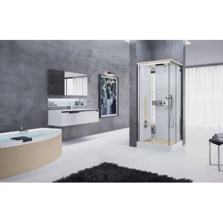 cabine de douche novellini nexis 1a90 version plus. Black Bedroom Furniture Sets. Home Design Ideas