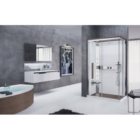 cabine de douche nexis a 120x80 acc s d 39 angle asym trique novellini. Black Bedroom Furniture Sets. Home Design Ideas