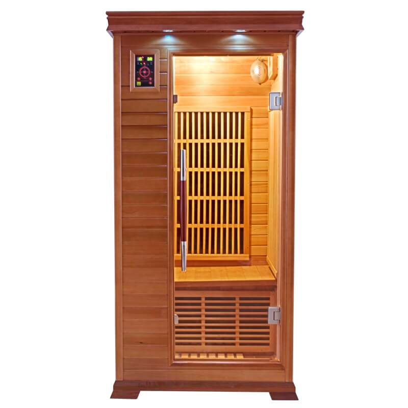 cabine sauna infrarouge luxe france sauna 1 place. Black Bedroom Furniture Sets. Home Design Ideas