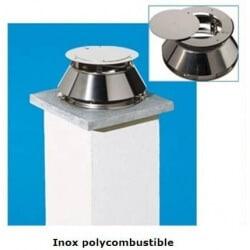 Aspire fumées Static Poujoulat Inox poli miroir Polycombustible