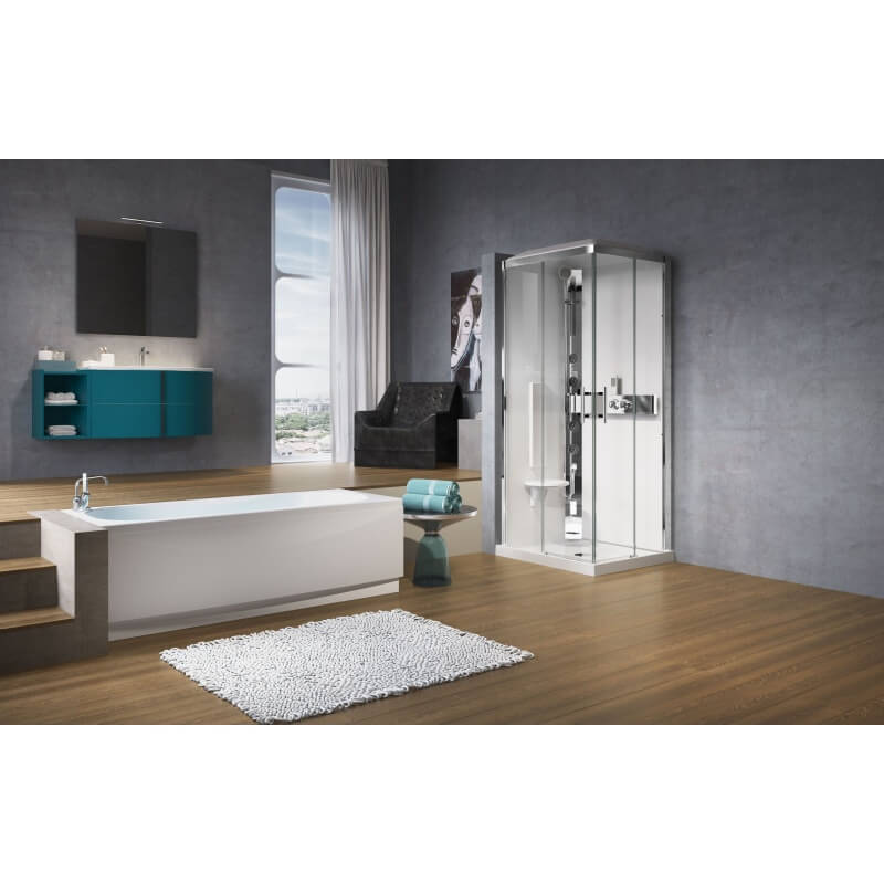 cabine de douche novellini glax 1 a90x70 acc s d 39 angle. Black Bedroom Furniture Sets. Home Design Ideas
