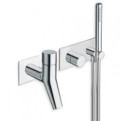 Bain douche mural Rubinetto Thermostatique chromé de Ondyna RU10051