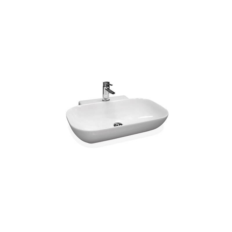 Lavabo vasque c ramique due 50 blanc brillant ondyna - Lavabo ceramique blanc ...