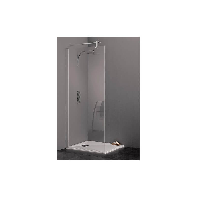 paroi de douche 120 cm barre droite ou m t sol plafond gamme kinespace solo kinedo. Black Bedroom Furniture Sets. Home Design Ideas