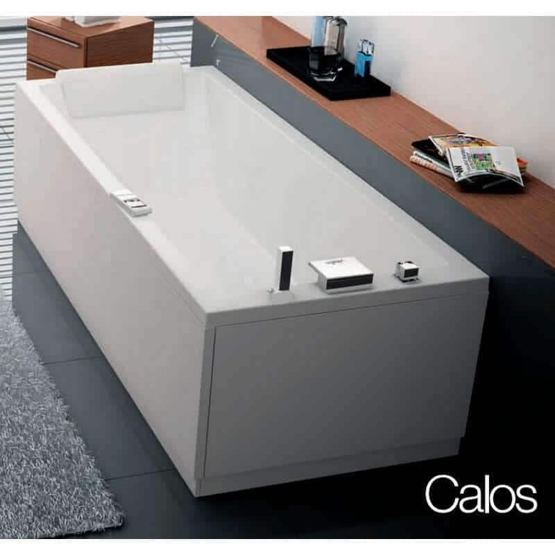 baignoire calos rectangulaire acrylique 170x75 novellini encastrer avec pieds. Black Bedroom Furniture Sets. Home Design Ideas