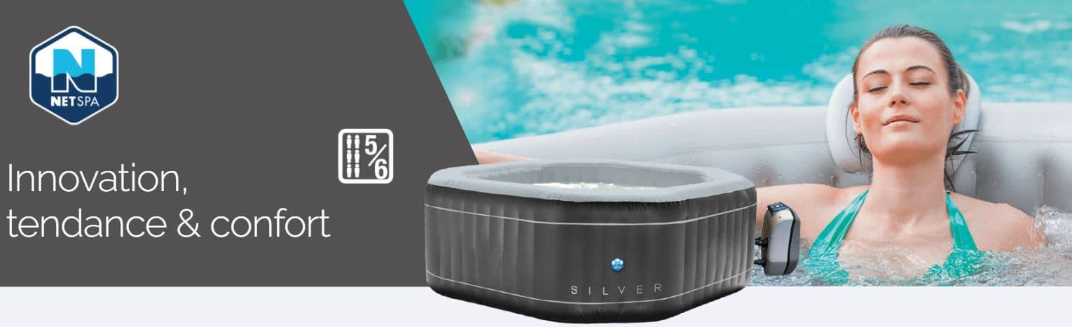 Le spa gonflable Netspa Silver