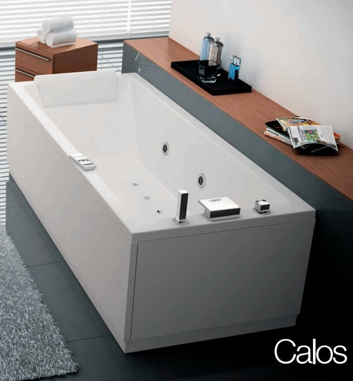 baignoire rectangulaire calos novellini 180 x 80. Black Bedroom Furniture Sets. Home Design Ideas