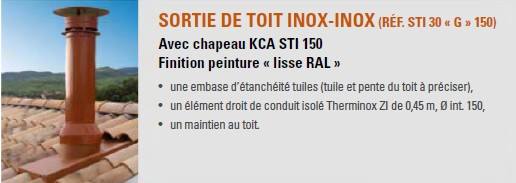 sortie de toit inox inox brique d 150 poujoulat poujoulat kci sti 150 ebay. Black Bedroom Furniture Sets. Home Design Ideas