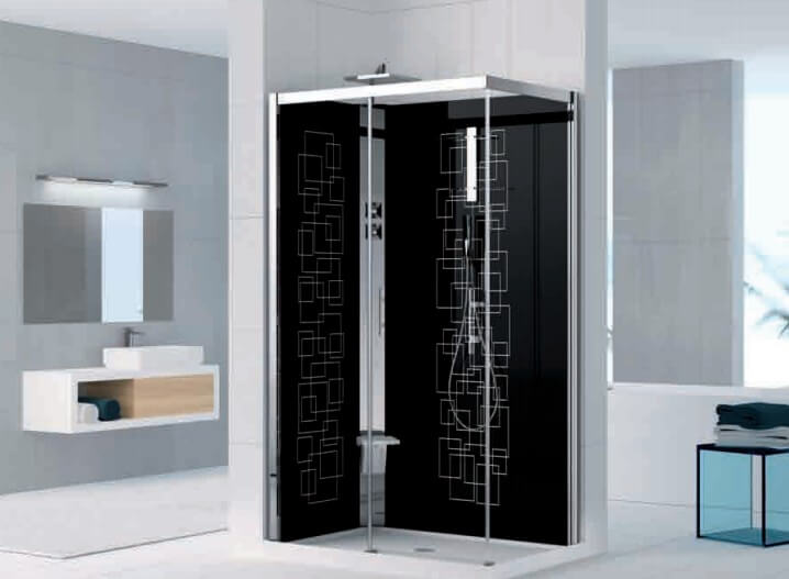 cabine de douche holiday crystal 2 2p 120x80 version standard m canique novellini. Black Bedroom Furniture Sets. Home Design Ideas